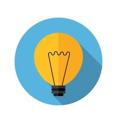 Lamp bulb icon vector image