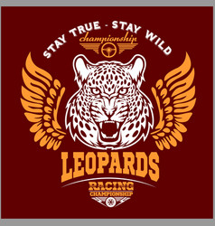 Leopards - custom motors club t-shirt logo vector