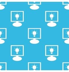 Light bulb monitor pattern vector