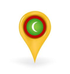 Location Maldives vector image