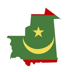map mauritania - flag vector image
