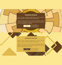 modern design web yellow on vector image