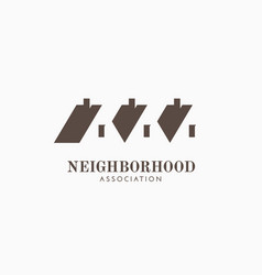 Neighborhood association logo vector