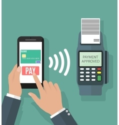 Nfc payment flat design style vector