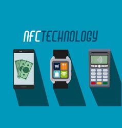Nfc technology concept vector