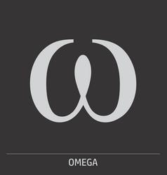 omega icon vector image