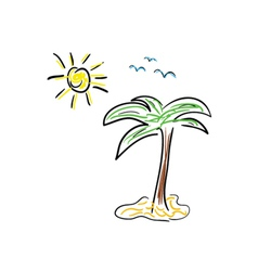 Palm icon cartoon color vector