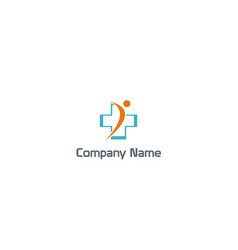 people cross medic hospital company logo vector image