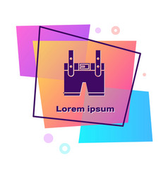 Purple lederhosen icon isolated on white vector