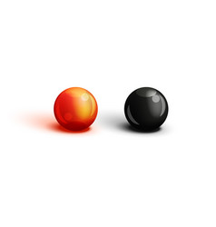 realistic two eggs red and black caviar close vector image