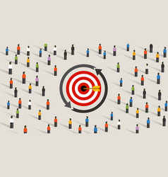 retargeting remarketing crowd online advertising vector image