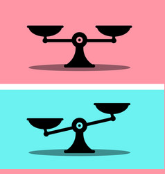 scales icon justice symbol weigh measurement flat vector image