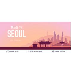 Seoul famous city scape vector