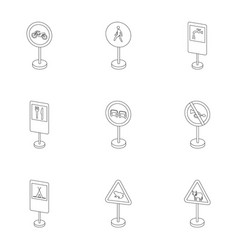 Set of road signs signs of prohibition vector