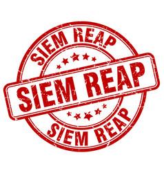 Siem reap red grunge round vintage rubber stamp vector