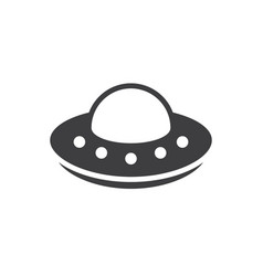 simple ufo icon spaceship alien symbol and sign vector image