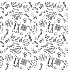 Smart robot parts and details background vector