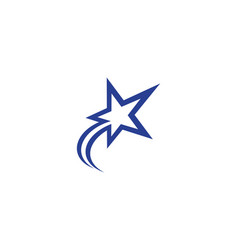star logo template icon vector image