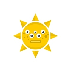 Sunny monster vector