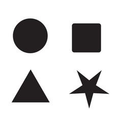 Symbol triangle rectangle pentagon hexagon vector