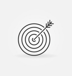 Target icon in thin line style vector
