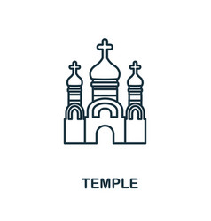 Temple icon simple element from religion vector