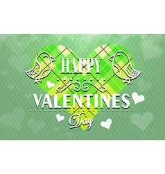 Textured Valentines Day background vector image