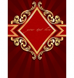 vertical label with gold rim vector image