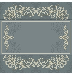 Vintage luxury background with abstract floral vector image