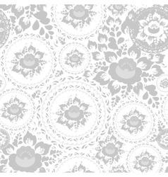 Vintage shabby Chic Seamless pattern with flowers vector image