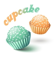 With two cupcakes vector