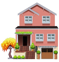 A big residential house vector image