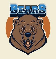 bear head mascot vector image