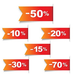 Color Discount Labels vector image vector image