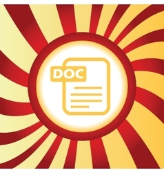 DOC file abstract icon vector image vector image