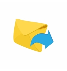 Envelope and blue arrow icon cartoon style vector image vector image