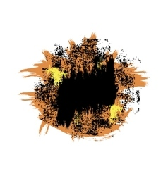 Orange black blot vector image