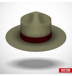 Ranger hat khaki green color vector image vector image