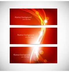 Set of abstract red banners vector image vector image