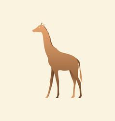 silhouette of a giraffe giraffe side view vector image