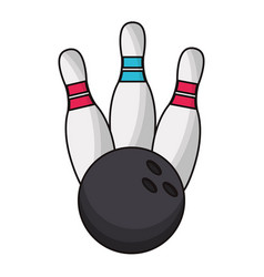 bowling ball sport game vector image
