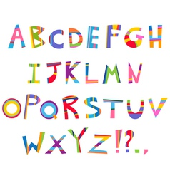 fun alphabet vector image