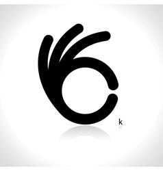 icon of ok vector image vector image
