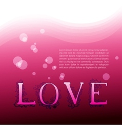 Love Background with graphic letters vector image vector image
