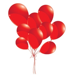 Red balloons isolated on white background Red vector image vector image