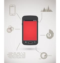 Smart phone inforgraphic vector image