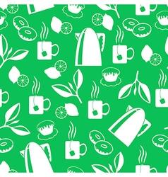 tea breack pattern green vector image