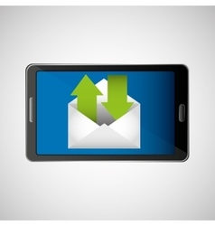 concept email send receive message icon vector image