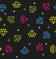diamond colorful dark seamless pattern vector image vector image