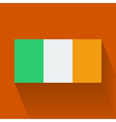Flat flag of Ireland vector image vector image